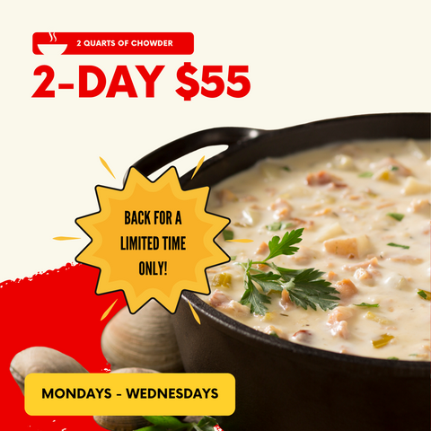 2 Quarts of Chowder: 2-Day Shipping $55