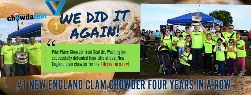 Pike Place Chowder Wins #1 New England Clam Chowder