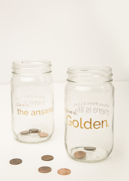 Love Is Golden Mason Jar Collection