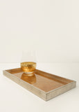 Antique Gold and Silver Tray