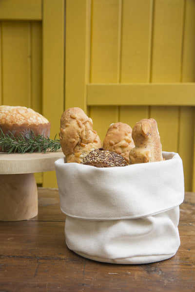 Natural Canvas Bread Basket