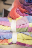 Multi-Colored Micro Fleece Blanket