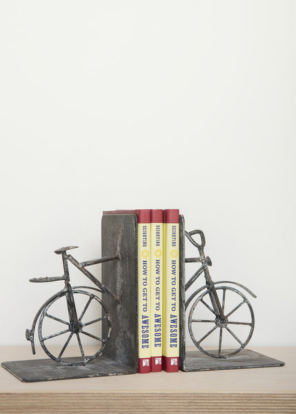 Jardin Bicyclette Bookends