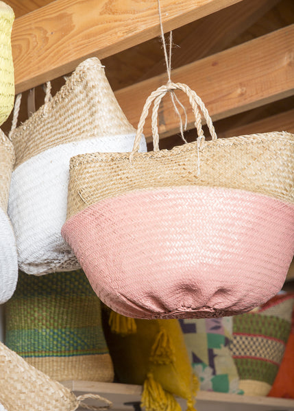 Color Dipped Seagrass Baskets