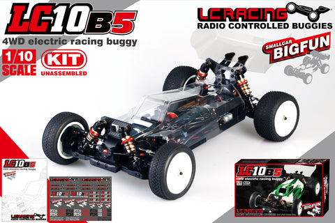 LC Racing 1/10 LC10B5 4WD Competition Spec Buggy Kit Differential Clutch Version