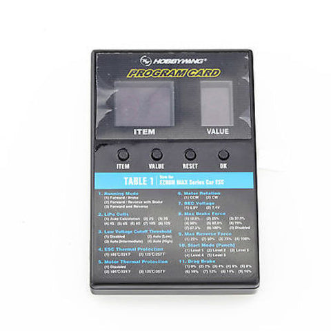 Hobbywing LED Program Card Box For Hobbywing Car/Boat/Aircraft ESC