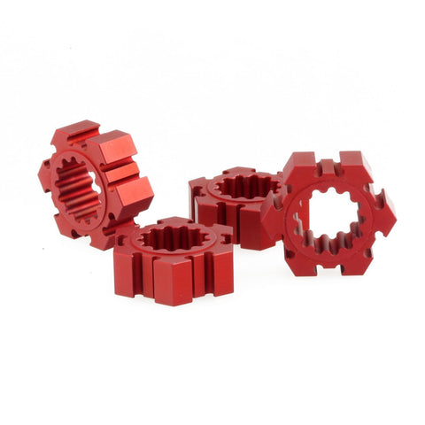 GDS Racing Alloy Wheel Hex Hubs 24mm Red for Traxxas X-MAXX RC Monster Truck