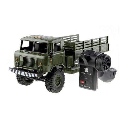 WPL #B-24 1:16 2.4G 4WD RTR RC Crawler Military Truck Toy for Kids Dark Green