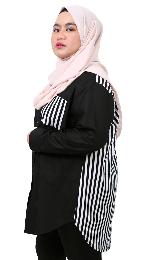 NAWRA PLUS SIZE in BLACK