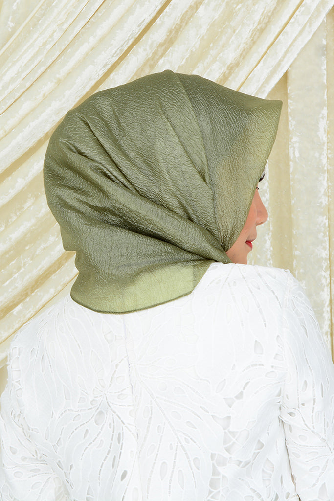 Iera Organza Square Shawl in Avocado