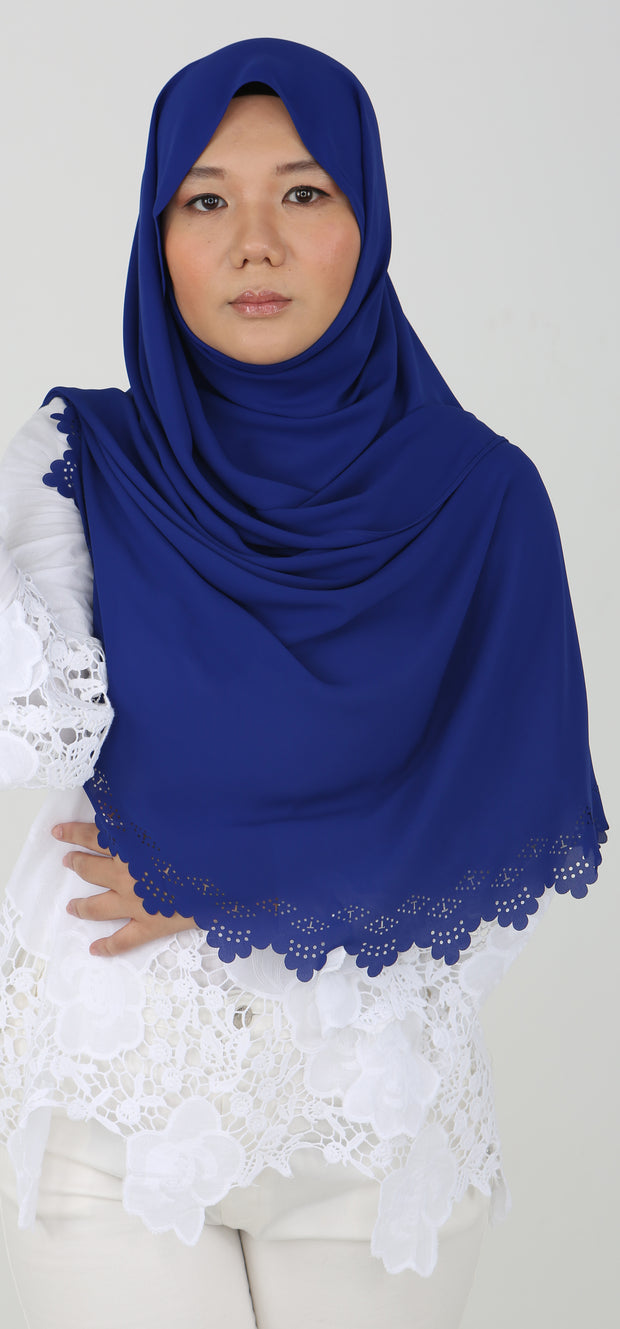 Imani Laser Cut Shawl in Boysenberry