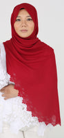 Imani Laser Cut Shawl in Spicy