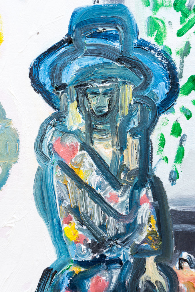 Painting // Teressa and Her Hats