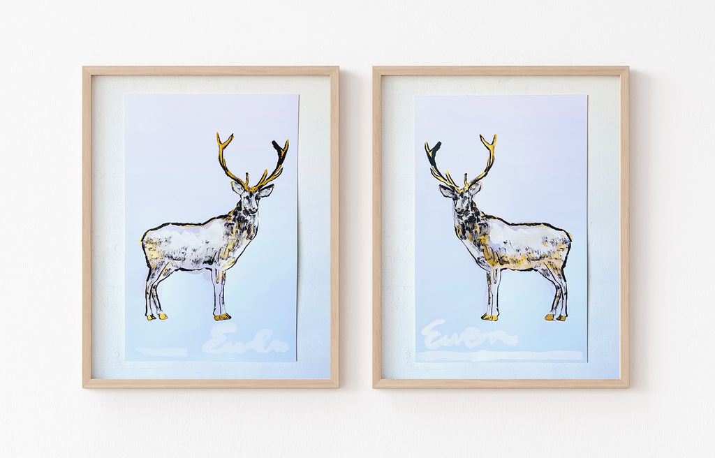 Hand Painted Multiple // Gold Dappled Stag, Left