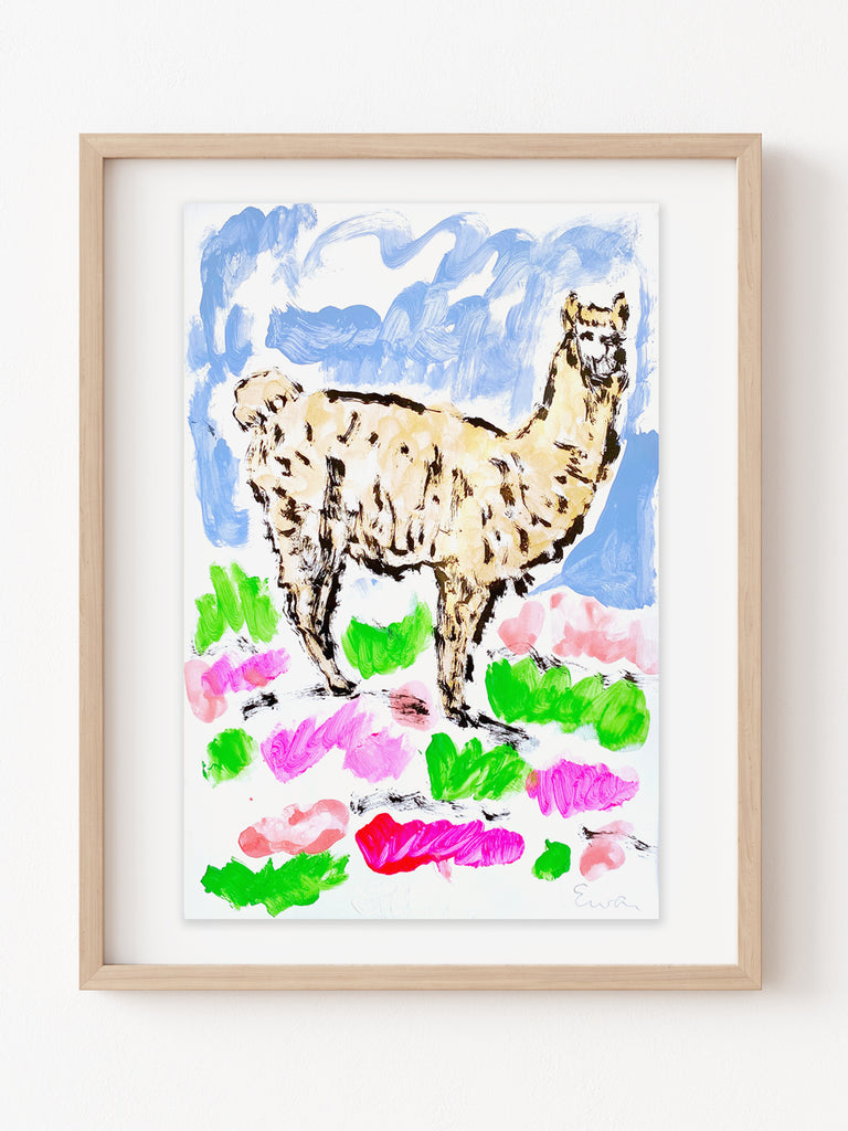 Hand Painted Multiple // Golden Alpaca No. 3 (Wild Flowers)