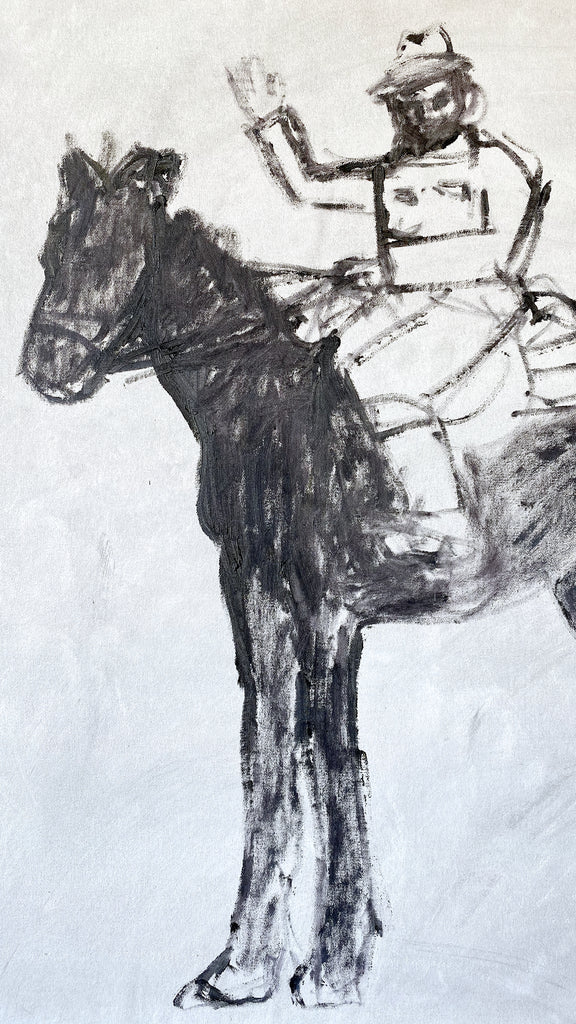 Painting // Horseback No. 2 (Saying Howdy)