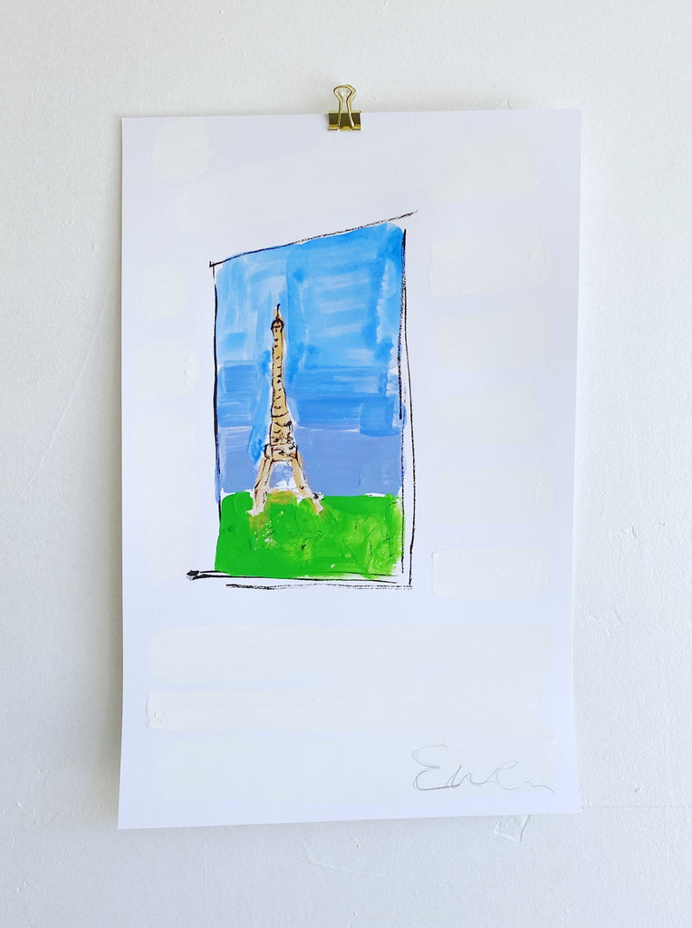 Hand Painted Multiple // Paris Window No. 2