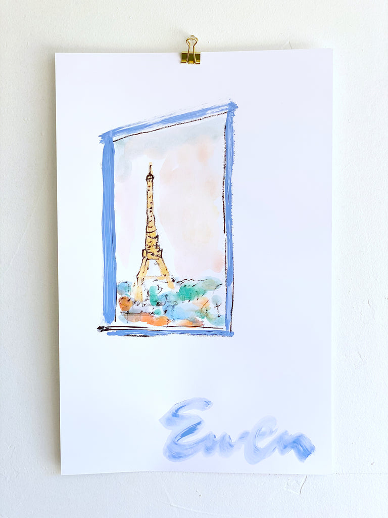 Hand Painted Multiple // Paris Window No. 5