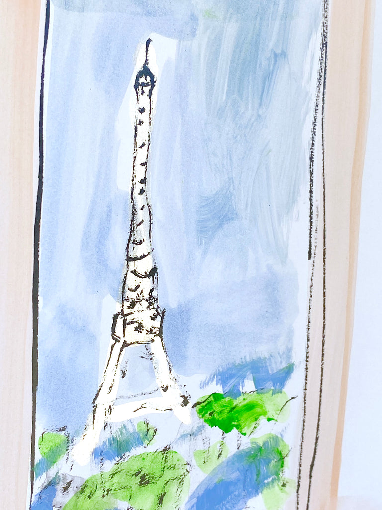 Hand Painted Multiple // Paris Window No. 7