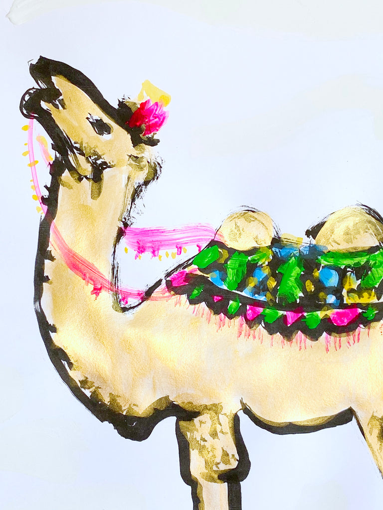 Hand Painted Multiple // Golden Camel No. 1