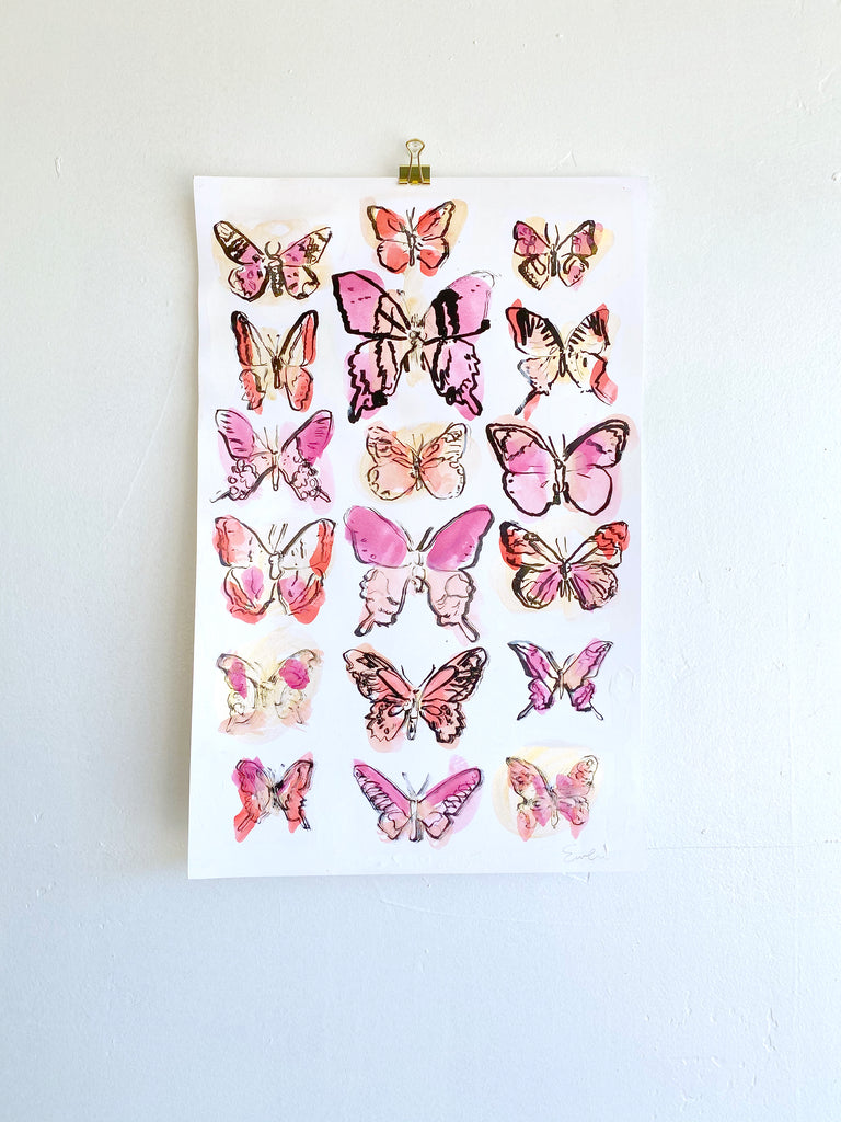 Hand Painted Multiple // Butterflies No. 2