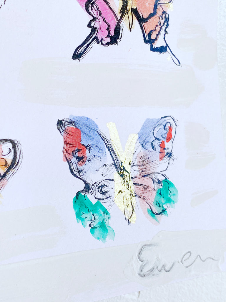 Hand Painted Multiple // Butterflies No. 4