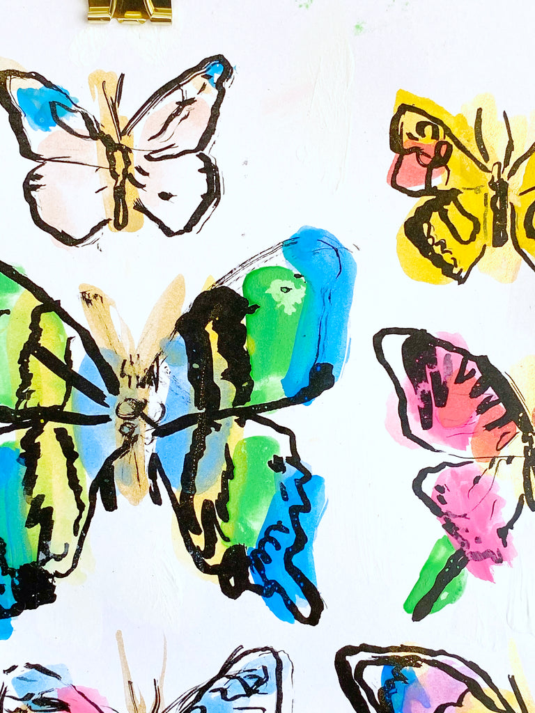Hand Painted Multiple // Butterflies No. 5
