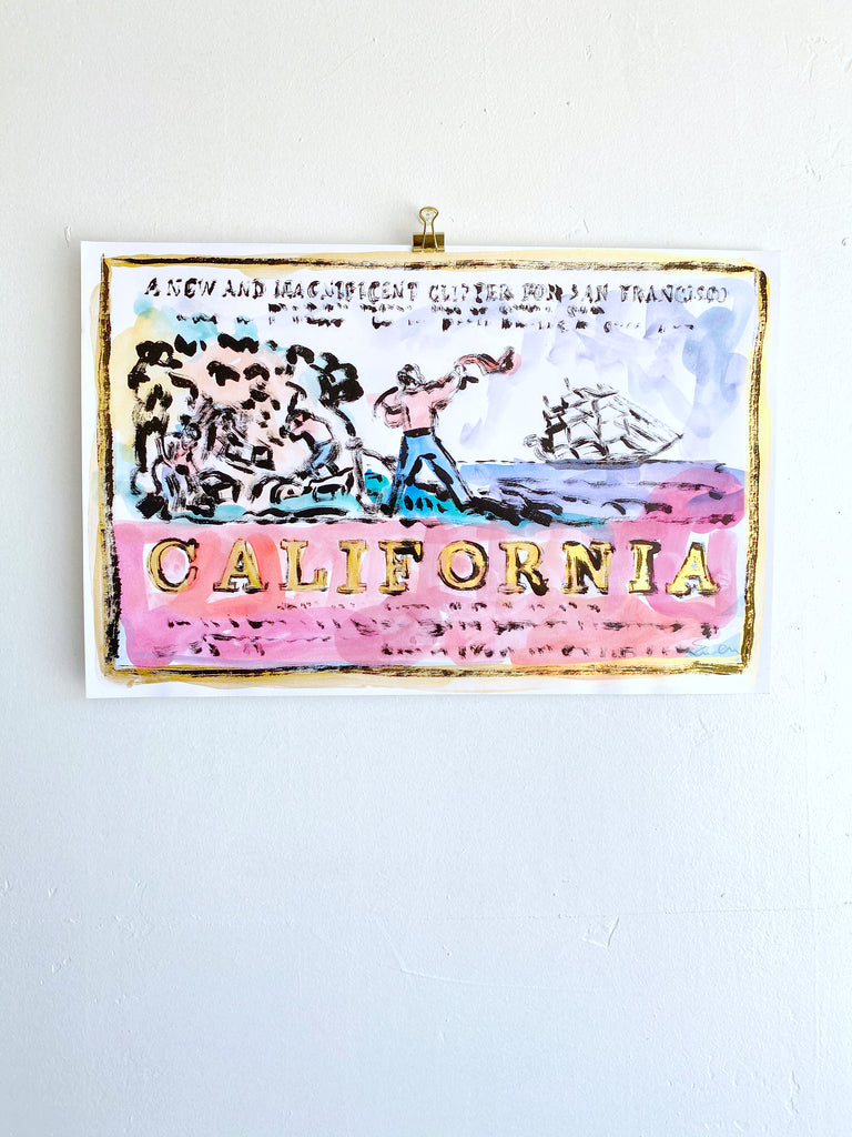 Hand Painted Multiple // California, New & Magnificent No. 12
