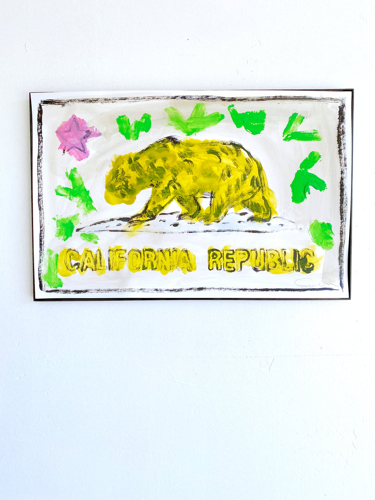 Hand Painted Multiple // California Republic No. 9