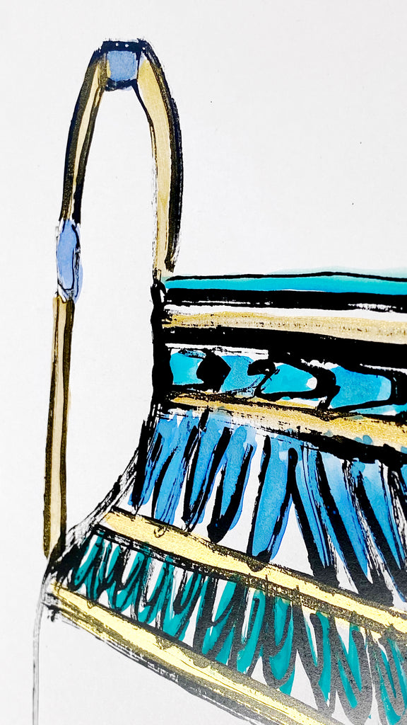Hand Painted Multiple // Amphora, Blue, Green & Gold