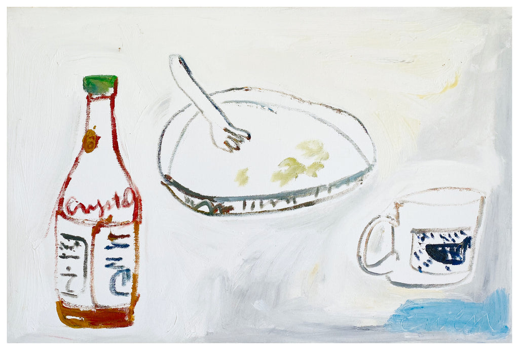 Painting // Still Life, Breakfast with Crystal Hot Sauce