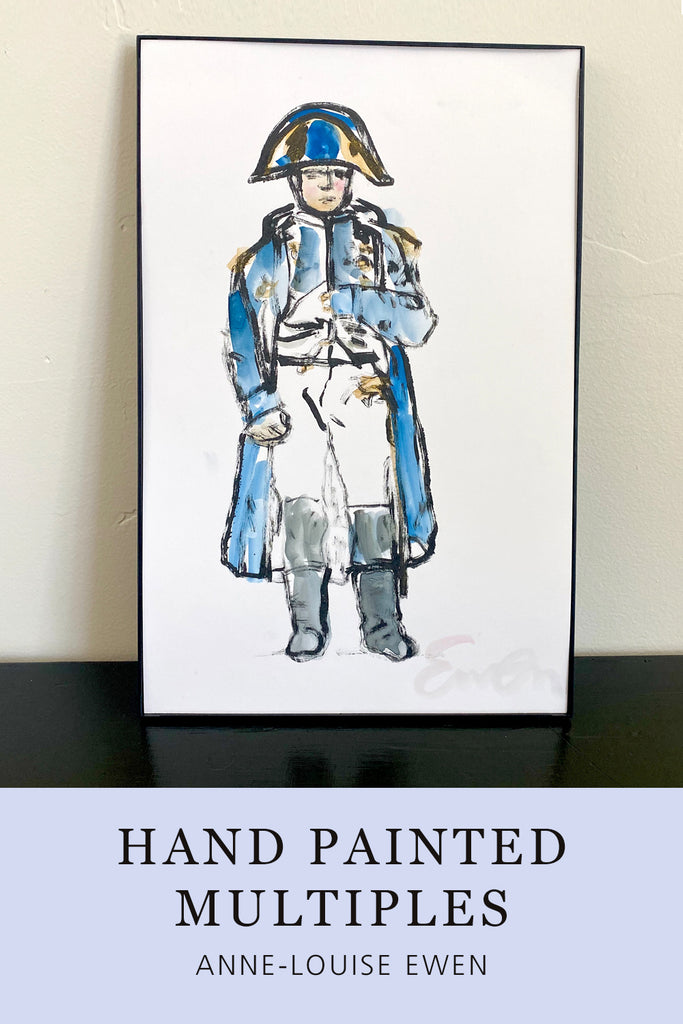 Hand Painted Multiple // Napoleon No. 1 :  Blue & Gold