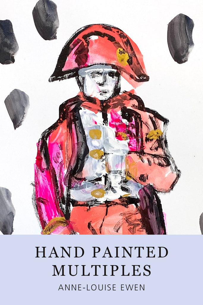 Hand Painted Multiple // Napoleon No. 6 :  Hot Pink, Rose & Gold