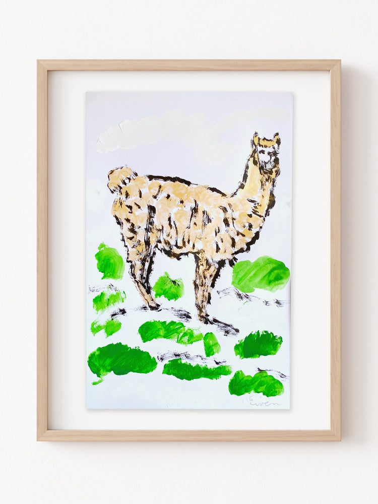 Hand Painted Multiple // Golden Alpaca No. 2 (Green Mountain)