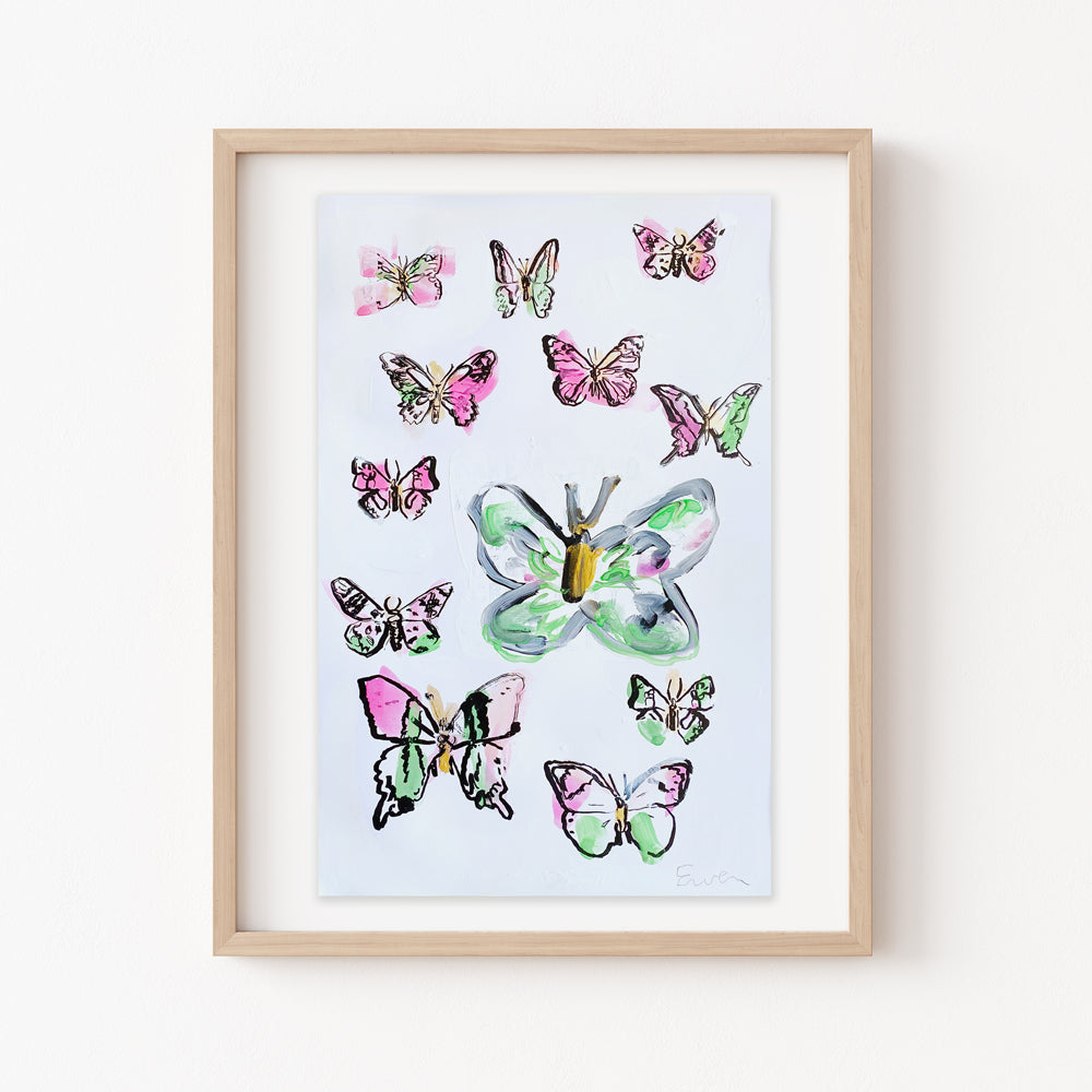 Hand Painted Multiple // Butterflies No. 3