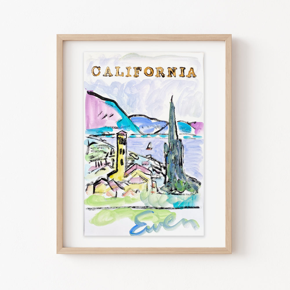 Hand Painted Multiple // California View No. 1