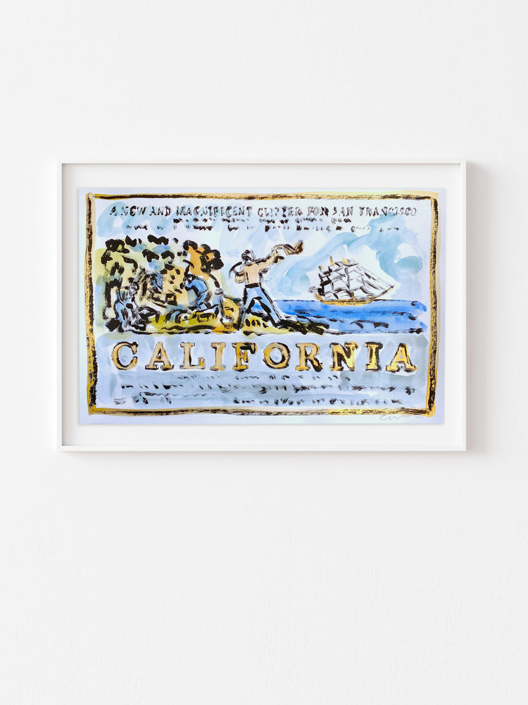 Hand Painted Multiple // California, New & Magnificent No. 6