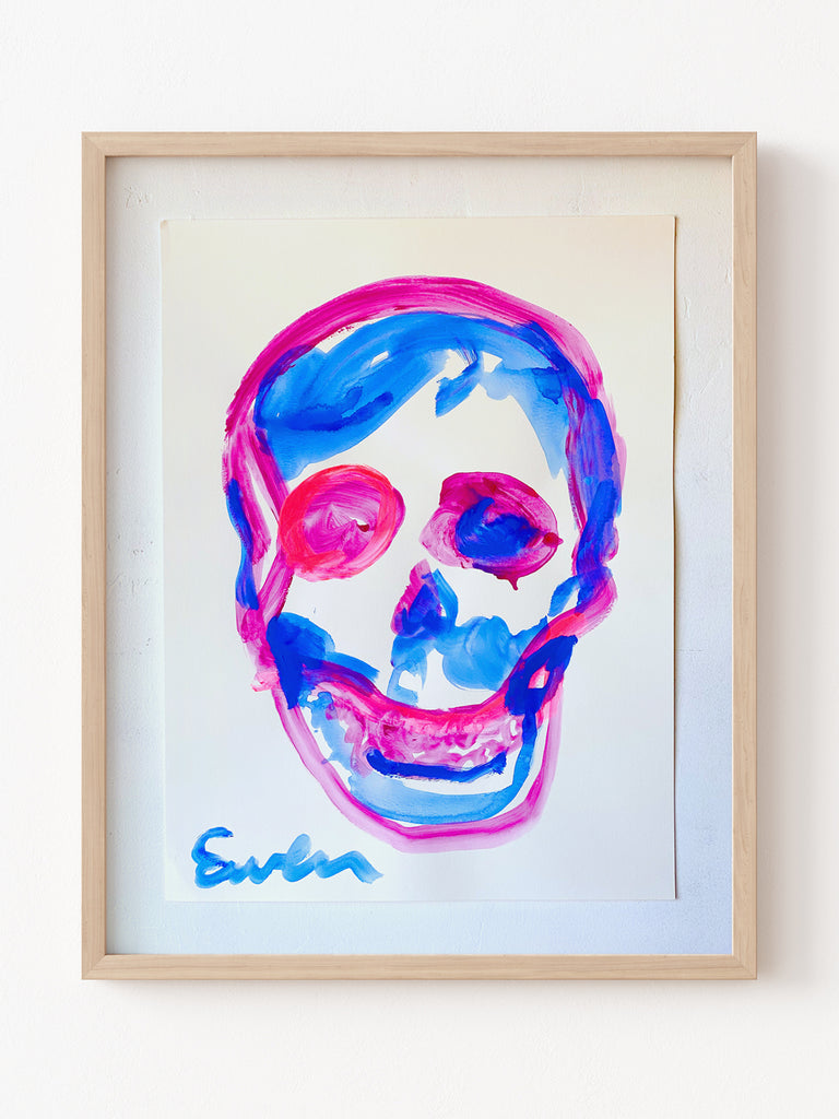 Painting On Paper // Skull (So Bright)