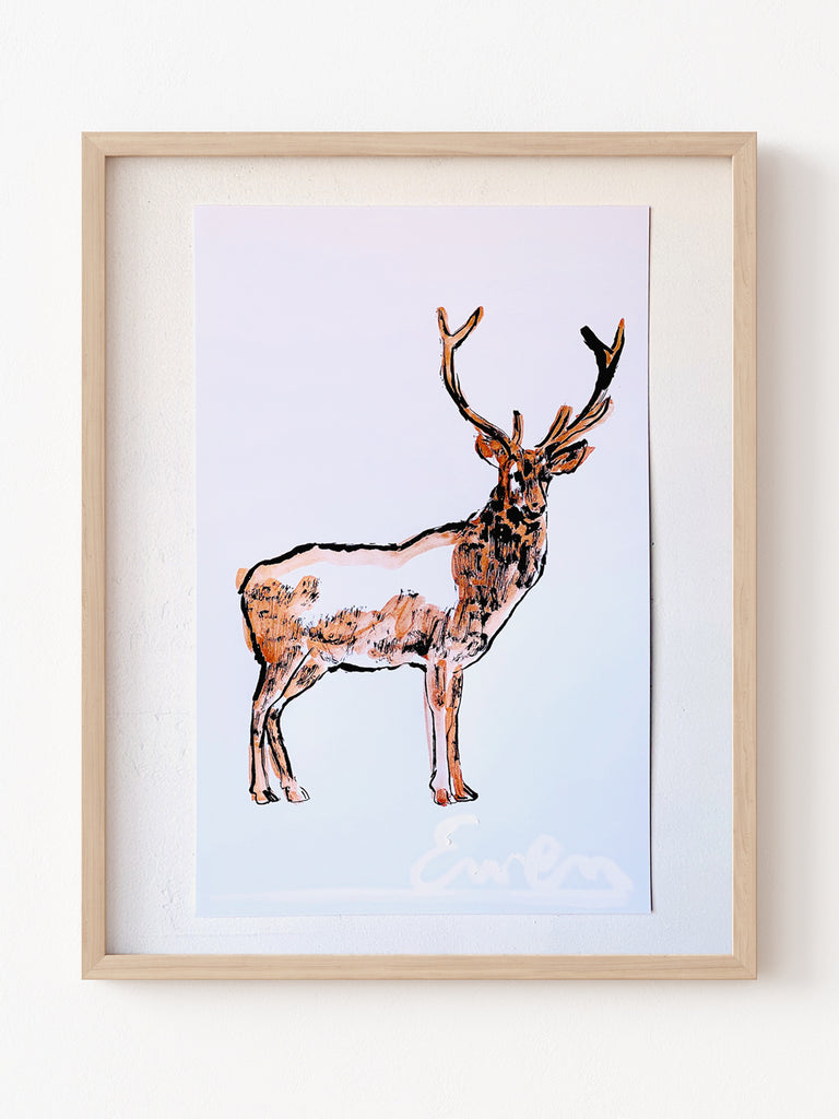 Hand Painted Multiple // Copper Stag, Right
