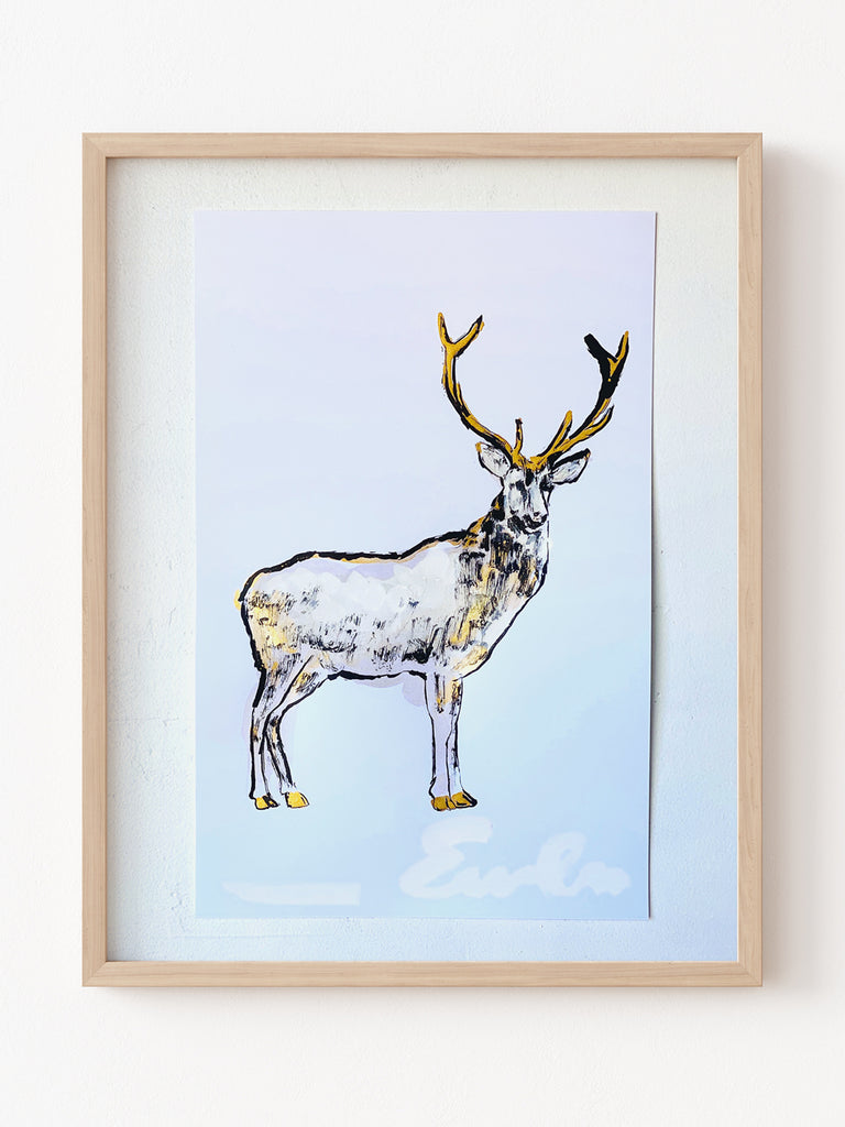 Hand Painted Multiple // Gold Dappled Stag, Right