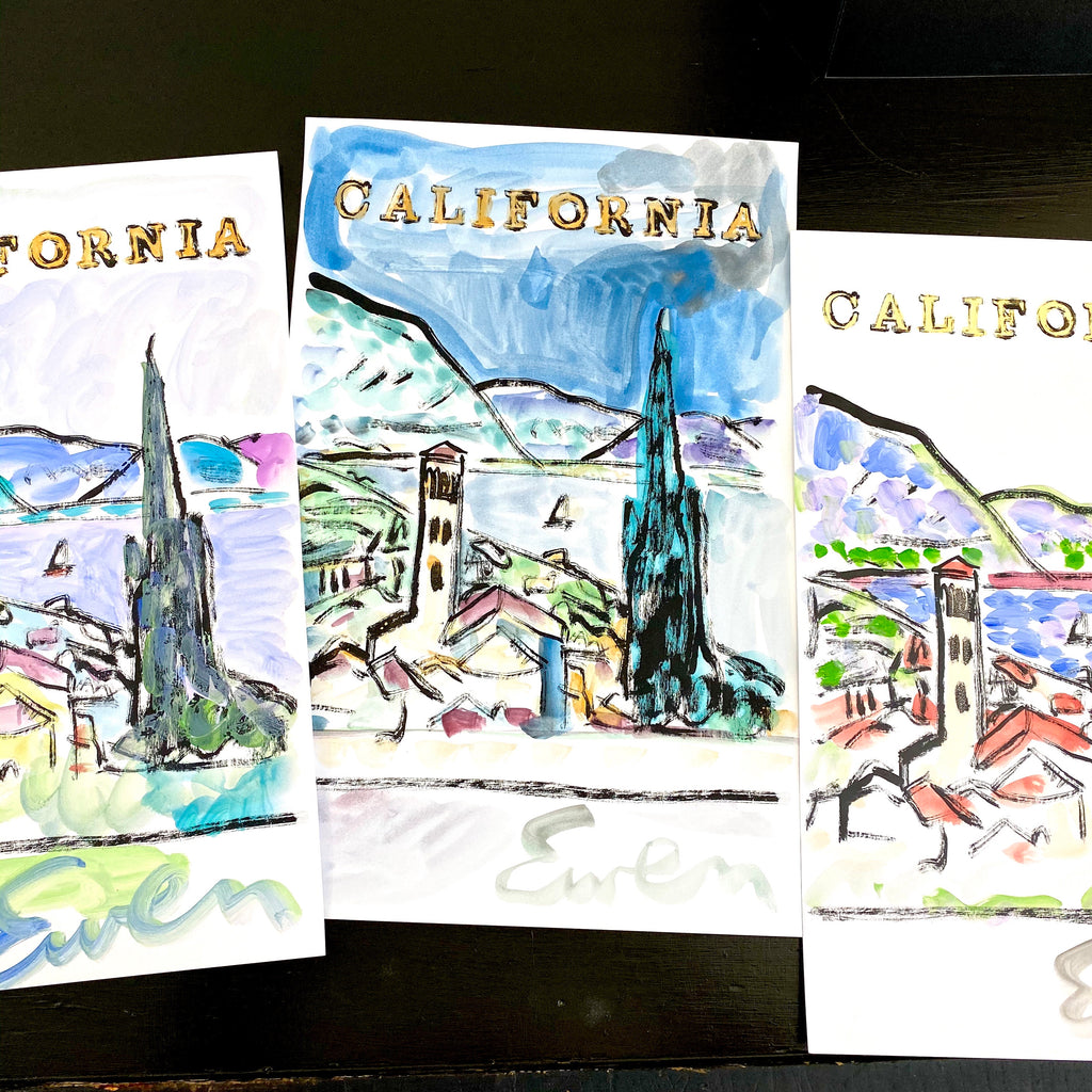 Hand Painted Multiple // California View No. 3