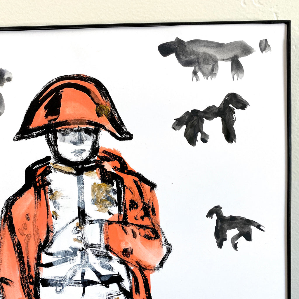 Hand Painted Multiple // Napoleon No. 9 :  Burnt Orange & Gold