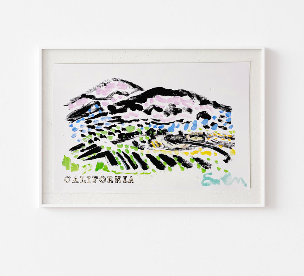 Hand Painted Multiple // California Wine Country No. 2
