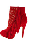 Red Rhinestone Ankle Boots