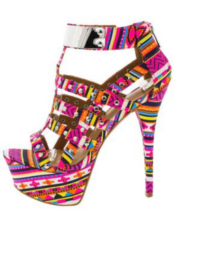Pink Multi-Colored Heels