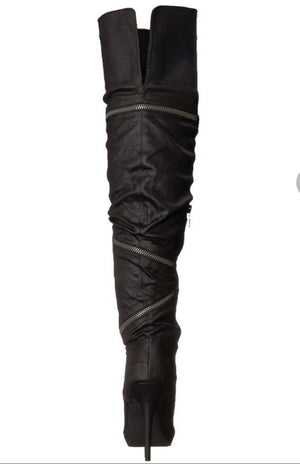 The Knee Wrap Zipper Stiletto Boot