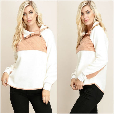 Fleece Pullover Sweater Top