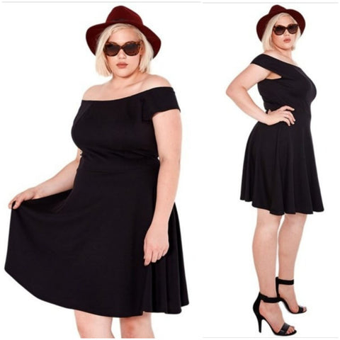 Scooped Neckline Dress