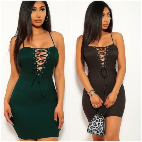 Body Con Front Tie Dress