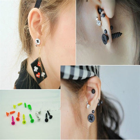 Colorful Screw Head Earrings